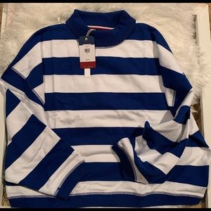 Tommy Jeans Cropped Striped Sweatshirt NWT
